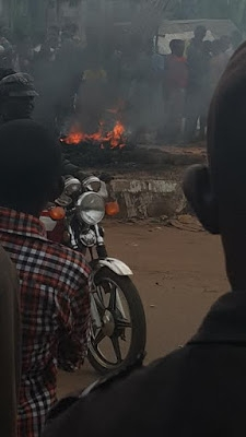 Man Burnt To Death In Imo State For Allegedly Stealing A Bike [See Photos]